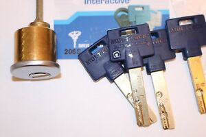 Mul t lock 1 1 16 206s Keyway Rim Cylinder satin Nickel
