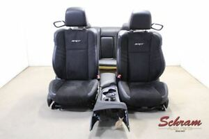 2015 2016 Dodge Challenger Srt Seat Set W Console Black Leather suede