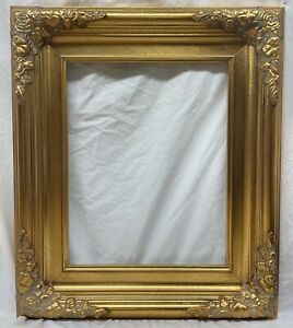 Picture Frame 11x14 Vintage Antique Style Baroque Classic Gold Ornate Glass B6g