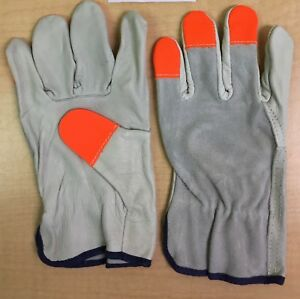 Cordova Safety Hi vis Leather Drivers Gloves Construction Xlarge sold By Dozen