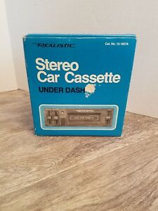 New Old Stock Vintage Realistic Stereo Car Cassette Player 12 1807a