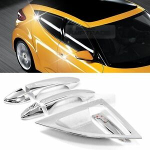 Chrome Door Catch Handle Molding Cover Garnish For Hyundai 2011 2017 Veloster