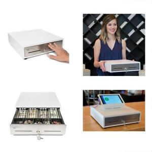 Manual Cash Registers Push Open Drawer With Ringing Bell 4 Bill Slots 5 Coin