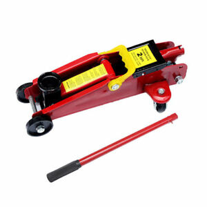 Pro Car Truck Mini Red 2 Ton 4000 Lbs Hydraulic Floor Jack Lift Tool On Wheels