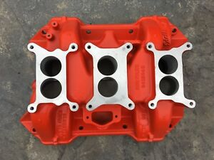 Nos New 440 Six Pack Intake Manifold 3x2 Dodge Chrysler Mopar 3412048 Edelbrock
