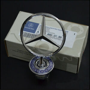 Mercedes Benz Star Hood Logo Chrome Emblem Badge W123 W126 W201 W124