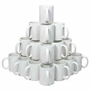 36pcs 11oz White Mugs 3d Sublimation Vacuum Craft Heat Press Transfer Printing