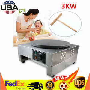 Top 16 Commercial Single Electric Crepe Maker Pancake Pan Griddle Machine 3kw