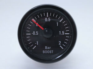 52mm 2 Mechanical Turbo Boost Gauge Meter 2 Bar White Led Traditional Series