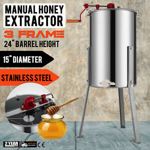 Pro s Choice New Honey Extractor 3 Frame Stainless Steel With Plastic Honey Gate