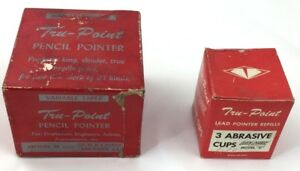 Vintage Tru point Pencil Pointer Model D With 3 Quick change Abrasive Cups