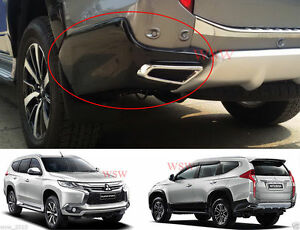 Mitsubishi Montero Pajero Sport Suv 2016 2017 Black Rear Bumper Side Body Kit V2