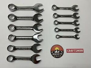 New Craftsman 11pc Metric Full Polish Stubby Combination Wrench Set