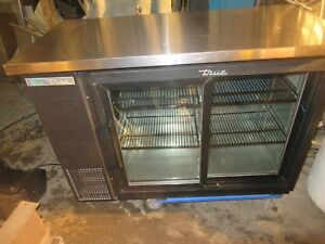 True Glass Door Back Bar Cooler