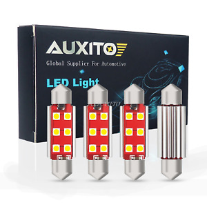 4x Auxito Canbus Dome Map Light 578 212 2 White Led Bulb Interior Lamp For Chevy