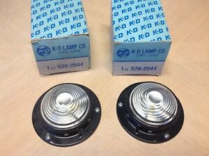 Early Pair K d Lamp Co Dome Lamp Light 528 2544 Nib W Switch Vintage Auto Truck