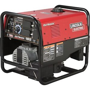 Lincoln Electric Outback 185 Welder generator 12 75 Hp Kohler Engine 5200w