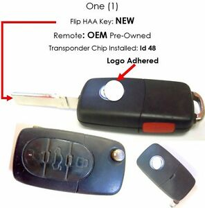 Vw Remote Keyless Control Entry Transmitter Fob Oem Broken Key Loop Phob