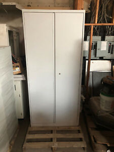 Nice 5 Tier Lab Cabinet With Shelves And Metal Doors 89 x36 x14