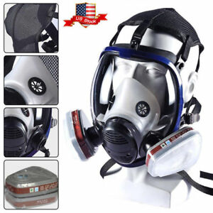 Us 7 In 1 Facepiece Respirator Painting Spraying For 3 M 6800 Full Face Gas Mask