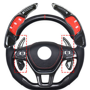 For Vw Golf7 R Polo Gti Scirocco Gear Steering Wheel Shifter Paddle Carbon Fiber