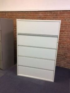 Used 36 Width Five drawer Lateral File In Good Condition Without Lock