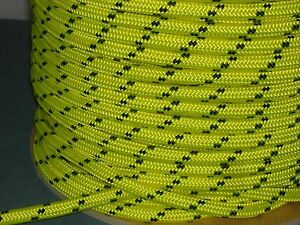 Double Braid Polyester 1 2 x300 Ft Arborist Rigging Tree Rope Bull Rope Yellow