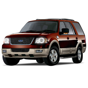 Ford Expedition 03 06 Chs Bright White Led Headlight Halo Ring Kit Rf Remote