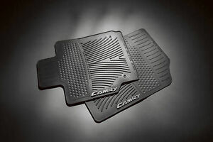 2007 2011 Camry Front All Weather Rubber Floor Mats Black 2pc Set Genuine Toyota