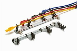 Taylor Cable 42420 Chrome Linear Wire Loom Kit With Red Wire Separators