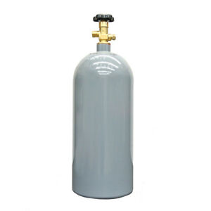 10 Lb Reconditioned Steel Co2 Cylinder Cga320 Valve Fresh Hydro Free Shipping