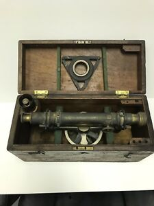 Vintage L Manasse Co Surveyor Transit Level With Original Box Matching Numbers