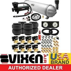Air Suspension Kit For Truck car Bag ride 200psi Compressor 5g Aluminum Tank