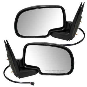 New Pair Set Power Side View Mirror W Cap Cadillac Chevy Gmc Pickup Truck Suv