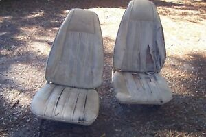 Mopar Bucket Seats 70 S Road Runner Volare Cuda Charger With Tracks