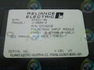 Reliance Electric 57c421b Pulse Tach Input New No Box