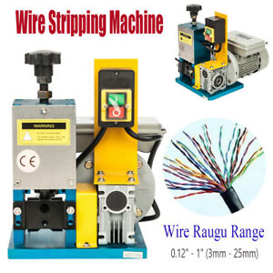 3 25mm Powered Copper Wire Stripping Machine Motorized Cable Stripper 50 min