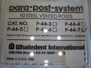 Coltene Whaledent Inc P744 6 Parapost Xp Stainless Steel 10 pk