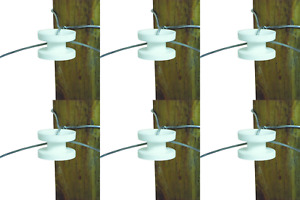 Field Guardian Wood Post High Strain Corner Insulator White pack Of 6