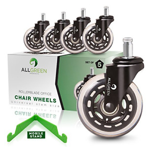 Rollerblade Office Chair Caster Wheels Replacement Set Of 5 New Model 2018 Heavy