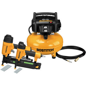 Bostitch 2 piece Nailer And Compressor Combo Kit Btfp2kit New