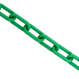 closeout Bis Barrier Chain Links Green 2 Inch X 125 Ft Crowd Control