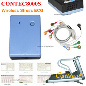 Contec8000s Wireless Stress Ecg Ekg Pc Systems free Pc Analysis Software Contec