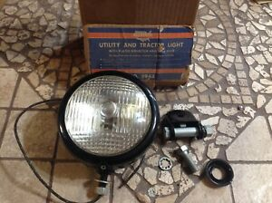 Vintage Nib Tractor Utility Light Allstate 5943 Lamp Early Farm Vehicle