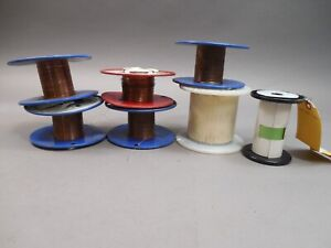 Lot Of 7 Spools Of Copper Wire 32 36 Awg