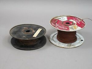 Lot Of 2 Spools 250 Feet Cloth Covered Wire 24 2