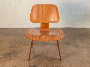 1950s Eames Molded Plywood Ash Lcw Lounge Chair For Herman Miller