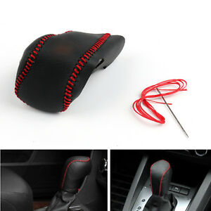 Genuine Leather Gear Shift Knob Cover Automatic For Buick Lacrosse 14 15 Blk Ue