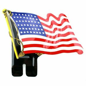 48 Star State Usa American Flag License Plate Topper Stamped Aluminum Chevy Ford Fits Ford Prefect
