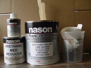 Dupont nason Viper Red 2k Ful Thane Urethane Single Stage Auto Restoration Paint